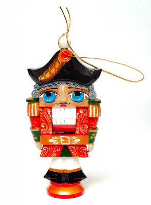 The Nutcraker hand carved and painted wooden Christmas Tree Ornament (by Andrey Crafts)