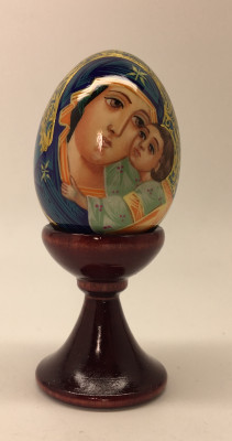 U Godmother hand painted on wooden egg (50mm) by Hamlet Crafts