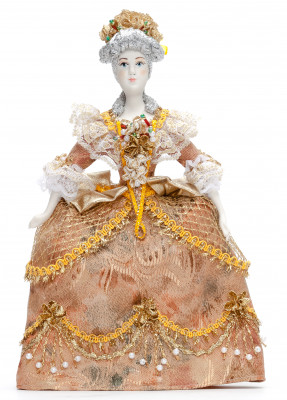 Russian Princess hand made Porcelain Doll in a Party Dress - 11 Inches (by Le Russe)
