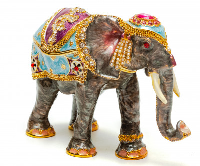 80 mm Elephant Jewellery Box