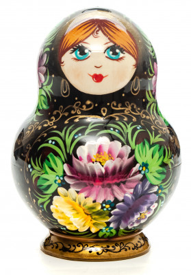 140 mm Summer Flowers hand painted Russian Matryoshka Doll 10 pcs (by Summer Shine)