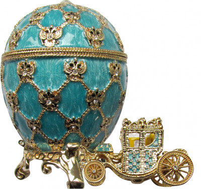 95 mm Imperial Coach and Blue Imperial Coronation Easter Egg