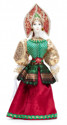 Russian Girl hand made Porcelain Doll - 11 Inches (by Le Russe)