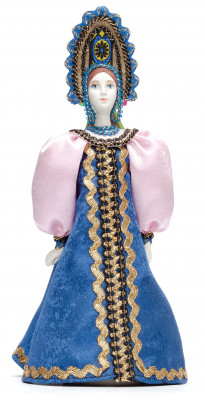 Russian Beauty hand made Porcelain Doll in Kokoshnik - 11 Inches (by Le Russe)