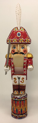 250 mm Nutcraker hand carved and painted wooden statue (by Natalia Workshop)