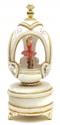 140 mm The Ballerina Goose Shell Easter Music Egg