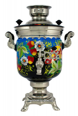 Wild Strawberries Hand Painted Electric Samovar Kettle