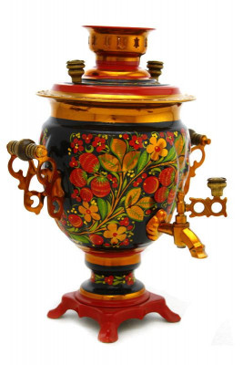 Strawberries Hand Painted Electric Samovar Kettle