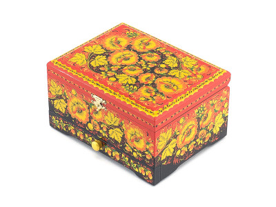 Khokhloma Painting Jewellery Wooden Box 170x130 mm