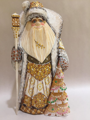 father frost with christmas tree