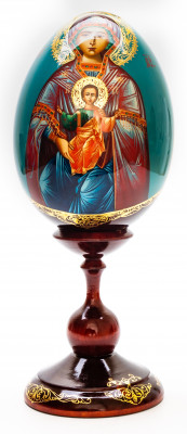 290 mm Godmother hand painted on wooden egg (by Hamlet Crafts)