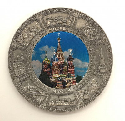 St.Basil's Cathedral Plate Fridge Magnet