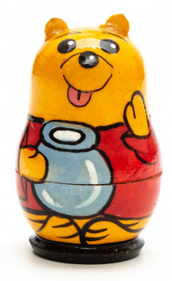 50 mm Vinnie The Pooh hand painted on Wooden Matryoshka doll 5 pcs (by Skazka)