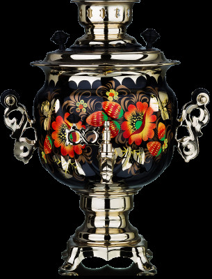 Poppies Hand Painted Electric Samovar Kettle