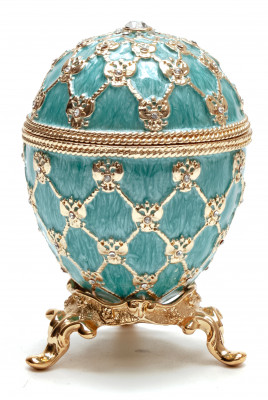 80 mm Clock and Blue Imperial Coronation Music Easter Egg