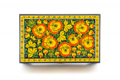 Khokhloma Painting Music Jewellery Wooden Box 230x140mm
