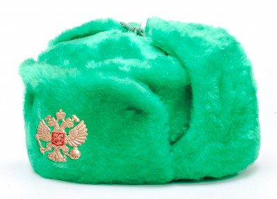 Russian Army Fur Ushanka Winter Hat (green, any size)
