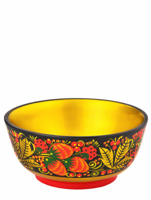 70x160 Khokhloma handpainted Open Small Vegetable Bowl wooden