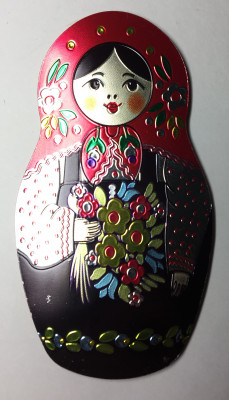 60x110 mm Russian Matryoshka Fridge Magnet (by AKM Gifts)