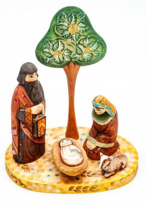 Nativity Set of 5 handpainted Carving Wooden Figures