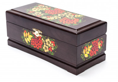 Khokhloma Painting Jewellery Wooden Box 230x100 mm