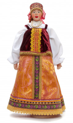530mm Young Lady Porcelain Statue Doll on a Stand (by Le Russe)