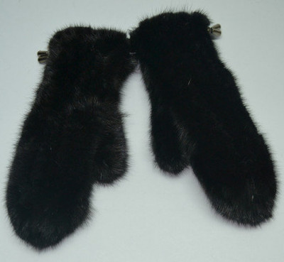 U Mink Knitted Fur Gloves