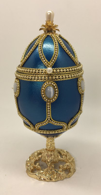 140 mm The Leaf Music Goose Egg Faberge Egg with Pearl decorations (by AKM)