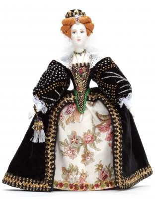 270 mm Elizabeth I of England Porcelain Statue (by Le Russe)