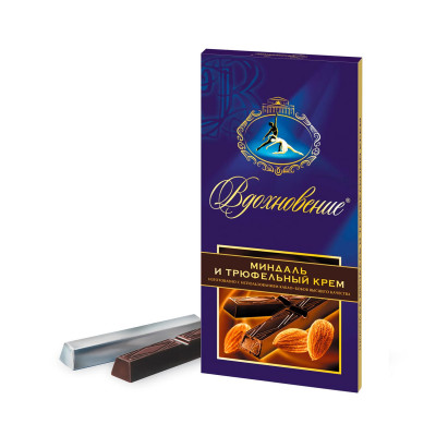 Inspiration Almonds and Truffle cream Chocolate (100 gr)