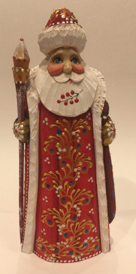 Hand Carved and Painted Santa