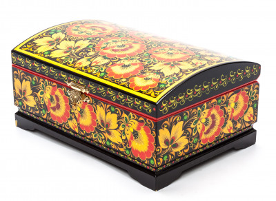 Khokhloma Painting Jewellery Wooden Box 200x140 mm