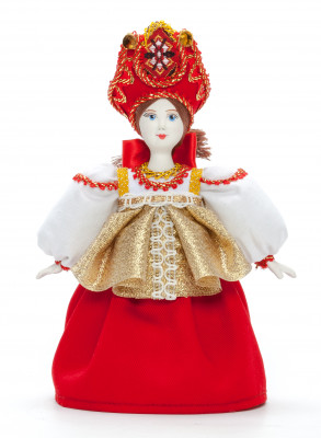 Russian Girl Porcelain Doll