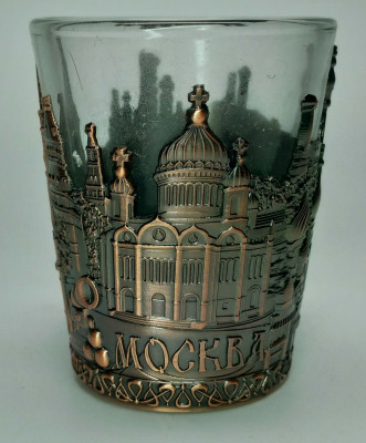 Metal Coated Moscow Copper Shot Glass