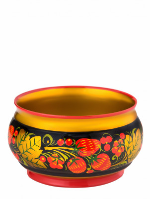 70x120 Khokhloma handpainted Open Small Vegetable Bowl wooden