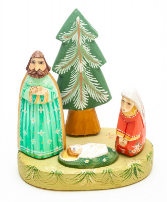 Nativity Set of 4 handpainted Carving Wooden Figures
