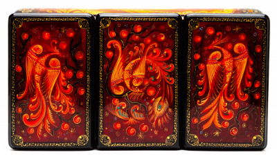 240x130mm The Firebird Hand Painted Jewellery Box (by Sadko Workshop)