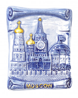 Attractions of Moscow Gzel Fridge Magnet