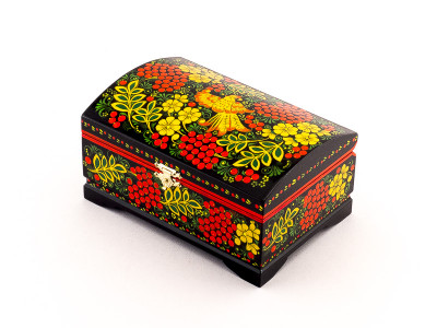 Khokhloma Painting Jewellery Wooden Box 170x110mm