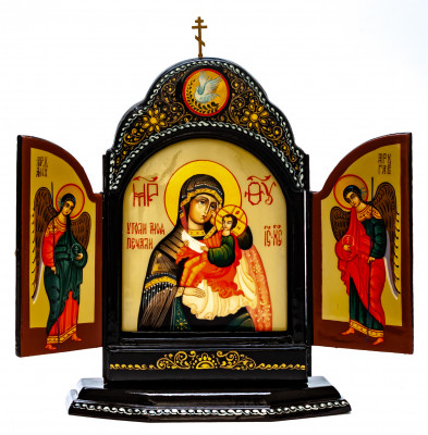 140x180mm Quench my Sorrows handpainted wooden Icon (by Galina Studio)