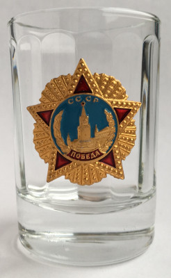 The Order of Victory Shot Glass