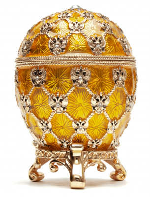 96 mm Imperial Coach and Gold Imperial Coronation Easter Egg