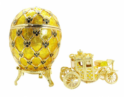 145 mm Imperial Coach and Gold Imperial Coronation Easter Egg