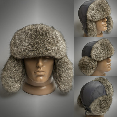 U Rabbit Hair Hat with leather top (different colors)