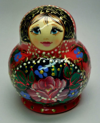 55 mm Matryoshka with Flowers 5pcs (by A Studio)