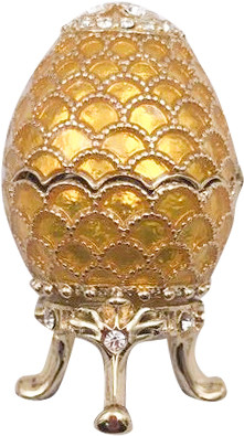 42 mm Gold Pine Cone Easter Egg