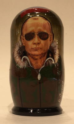 120 mm Putin in military uniform Handmade Matryoshka Nesting Doll 5 pcs