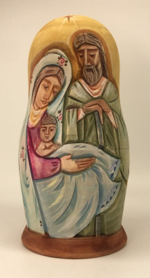 160 mm Nativity Scenes Hand Carvd and Painted Wooden Doll 5 pcs (by Sergey Carved Wooden Dolls Studio)