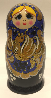 Firebird Hand Painted Matryoshka Doll 5 pcs