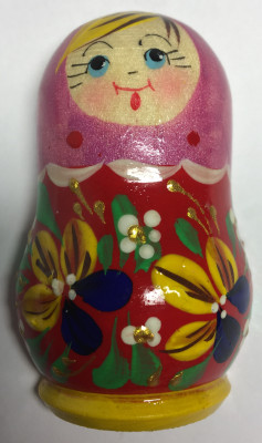 70 mm Russian Patterns hand painted wooden Fridge Magnet Matryoshka Doll Shape (by Mariya Wooden Magnets Studio)
